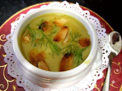 Recette Amuse-bouche de crème de cèpes et fenouil