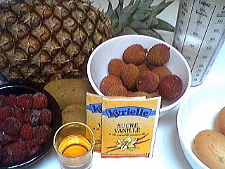 Ingrédients pour la recette : Ananas meringué
