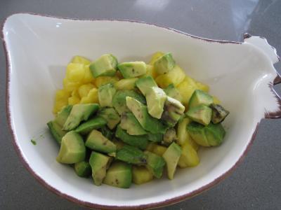 Salade à l'ananas exotique façon Pierrot - 6.3