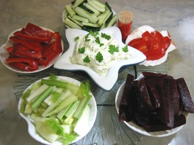 Recette Ramequins d&#39;amuse-bouche aux crudits et sa sauce ricotta