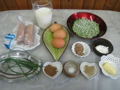 Ingrédients pour la recette : Andouillettes en clafoutis façon Lyonnaise