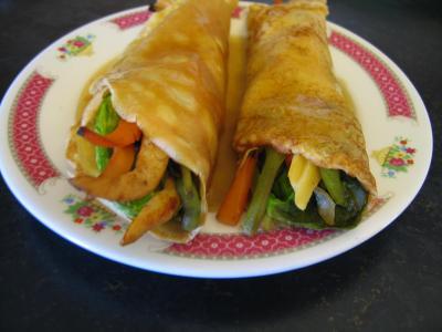 bouillon : Crêpes chinoises aux légumes