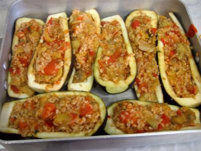Aubergines farcies et sa sauce au yaourt façon turque - 10.2
