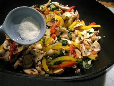 Crêpes aux épinards, aux champignons et son saumon fumé - 7.1