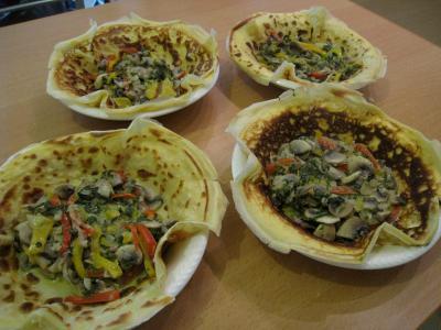 Crêpes aux épinards, aux champignons et son saumon fumé - 10.4