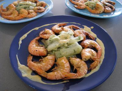 Crevettes à l'anis et sauce à l'orange - 10.3