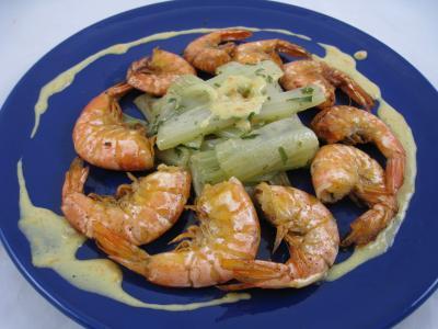 ricard ou pastis : Assiette de crevettes à l'anis et sa sauce à l'orange