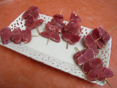 Brochettes de porc aux endives et sa sauce aux noix de cajou - 11.2