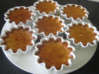 Cuisson au bain-marie : Tartelettes de flan au citron minceur