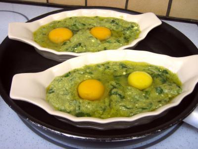 Cassolettes d'oeufs aux restes de purée de brocolis - 6.2