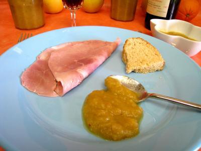 chutney : Assiette du chutney aux pommes