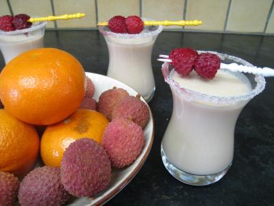 Recette Cocktail de crème de framboises et litchis