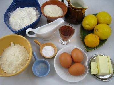 Ingrédients pour la recette : Cake au citron