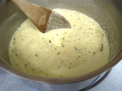 Colin et espadon avec sauce aux fines herbes - 7.2