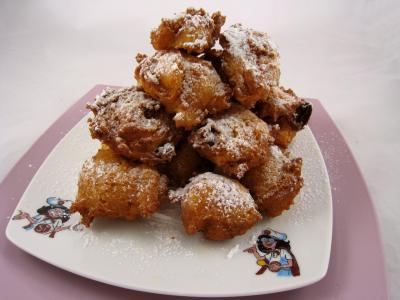 beignets sucrés : Assiette de beignets à la ricotta