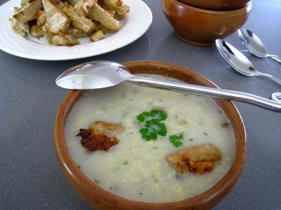 Recette Soupe de poulet au Pécorino à l'italienne
