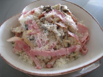 Recette Risotto aux champignons et au jambon à l'Italienne
