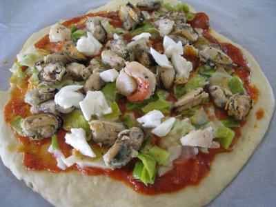 Pizza marinara aux moules à l'italienne - 17.4