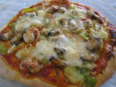 Pizza marinara aux moules à l'italienne - 18.4