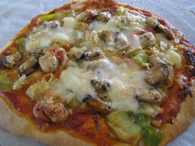 Image : recette Pizza marinara aux moules à l'italienne