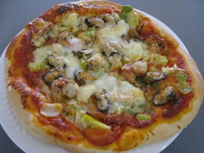 pizza reine au beurre d ail