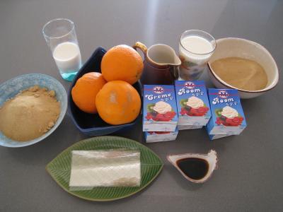 Ingrédients pour la recette : Panna cotta vanille et sauce caramel à l'orange