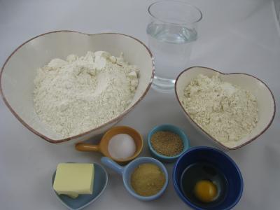 Ingrédients pour la recette : Pain à la farine de châtaignes
