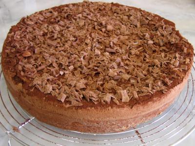 Gâteau au chocolat et son coulis de melon et pêches - 11.1