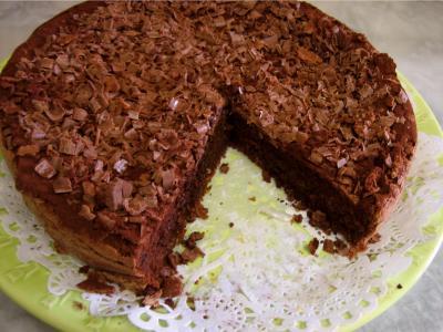 Recette Gâteau au chocolat et son coulis de melon et pêches