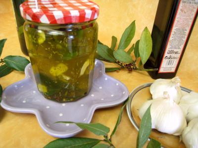 Recette huile aromatique pour pizza en pot