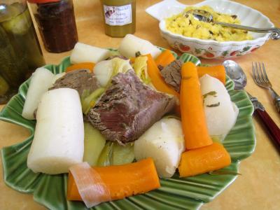 Recette Assiette de jarret de boeuf en pot au feu