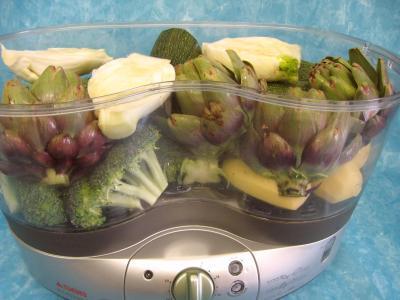 Légumes vapeur (artichauts, brocolis, carottes, fenouil) - 9.2
