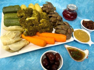 Recette Légumes vapeur (artichauts, brocolis, carottes, fenouil)