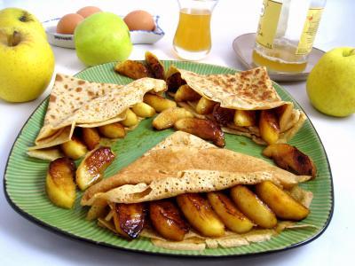Recette Assiette de crêpes aux pommes