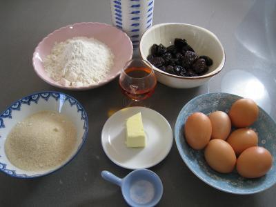 Ingrédients pour la recette : Far Breton