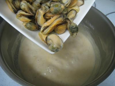 Moules crèmées aux haricots plats - 5.3