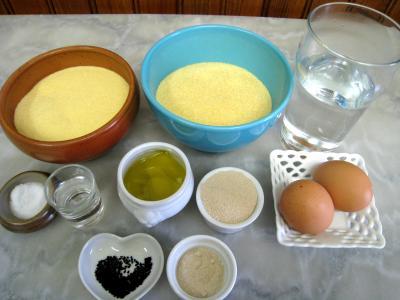 Ingrédients pour la recette : Pain à la semoule khobz-koucha façon arabe...