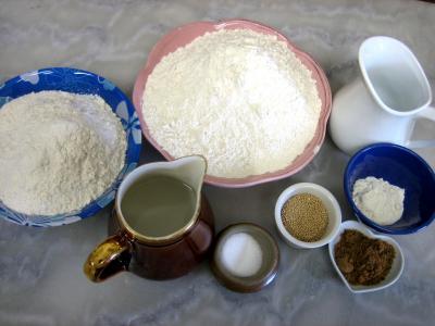 Ingrédients pour la recette : Petits pains à l'épeautre