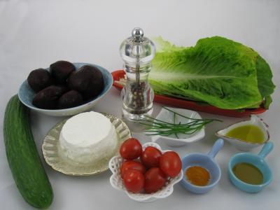 Ingrédients pour la recette : Concombre farci au nid de Pâques