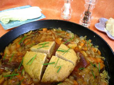 Recette Potage chou chinois et sa boulette de porc