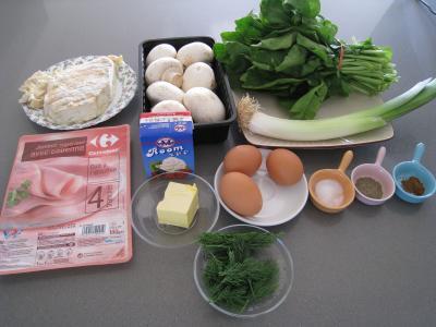 Ingrédients pour la recette : Gratin de Pâques aux oeufs
