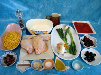 Ingrédients pour la recette : Poulet aux olives à la mexicaine