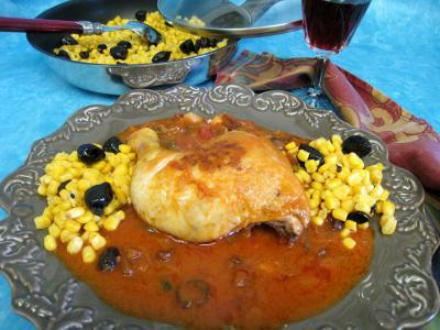 Image : recette Poulet aux olives à la mexicaine