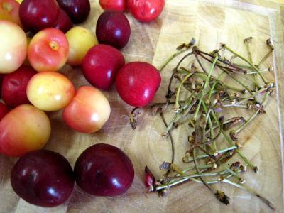 Quatre-quarts aux abricots et aux cerises - 2.1
