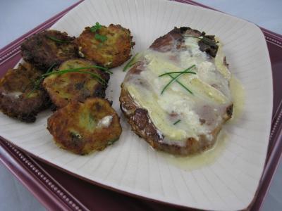 camembert : Assiette de côtes de porc fondantes