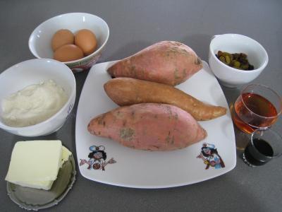 Ingrédients pour la recette : Gâteau de patates douces à la réunionnaise