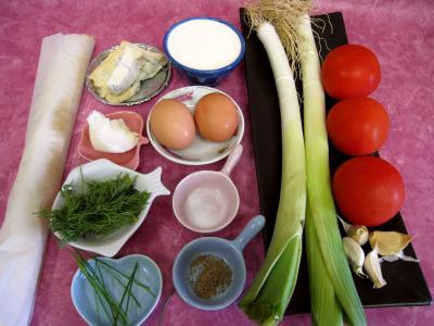 Ingrédients pour la recette : Quiche aux tomates et au gorgonzola façon italienne