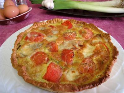 Recette Quiche aux tomates et au gorgonzola façon italienne