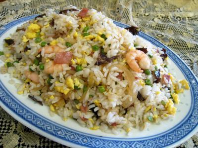 Recette Assiette de riz cantonais