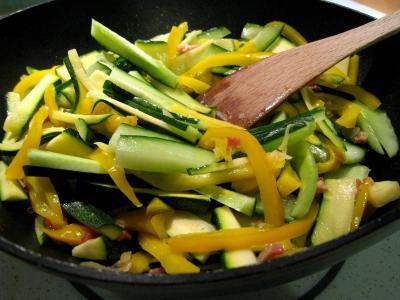 Sauté de légumes et ses oeufs au bain-marie - 7.2